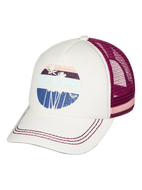 0 Dig This Trucker Hat White ERJHA03178 Roxy