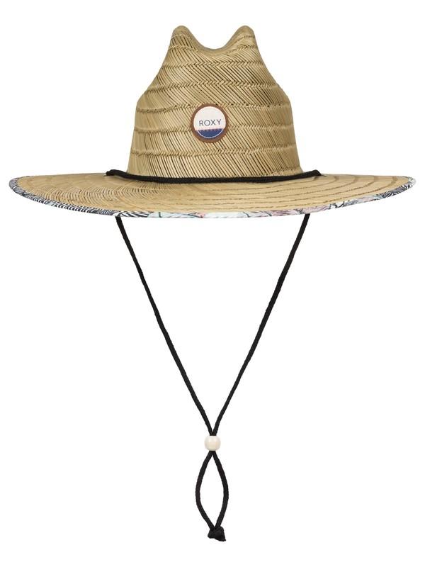 0 Tomboy Printed Straw Hat  ERJHA03214 Roxy