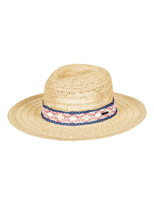 0 Cowgirl Straw Cowgirl Hat Yellow ERJHA03215 Roxy