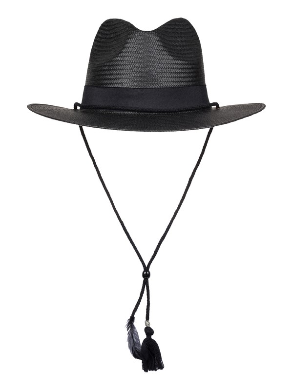 0 California Feeling Straw Panama Hat Black ERJHA03224 Roxy