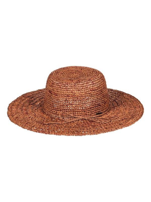 0 Banana Palm Straw Sun Hat Pink ERJHA03332 Roxy
