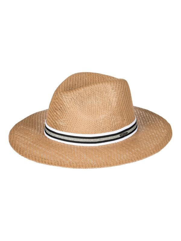 0 Here We Go  Straw Panama Hat Yellow ERJHA03381 Roxy