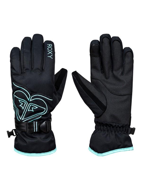 0 Poppy - Snowboard/Ski Gloves Black ERJHN03062 Roxy