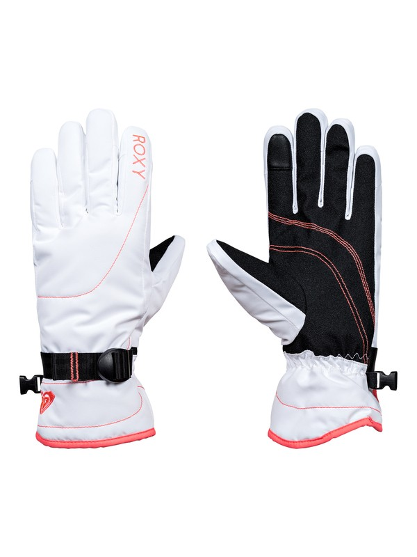 0 ROXY Jetty - Snowboard/Ski Gloves White ERJHN03070 Roxy