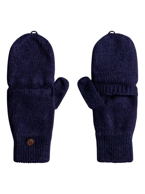 0 Torah Bright - Convertible Knitted Gloves/Mittens Blue ERJHN03079 Roxy
