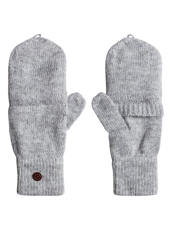0 Torah Bright - Convertible Knitted Gloves/Mittens Gray ERJHN03079 Roxy