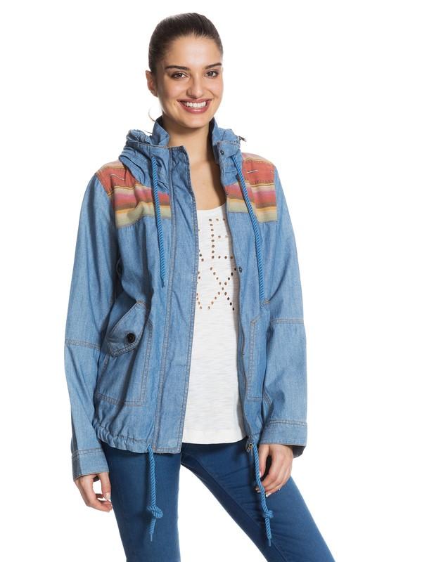 0 Winter Cloud Chambray Jacket Blue ERJJK03023 Roxy