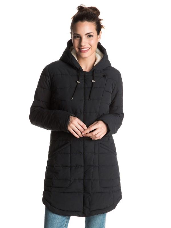 0 Indi Coast - Gevoerde jas Black ERJJK03148 Roxy