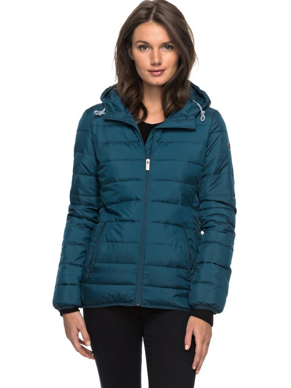 0 Forever Freely Puffer Jacket Blue ERJJK03158 Roxy