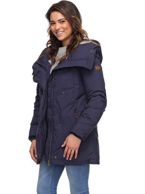 0 Abbie Waterproof Hooded Parka Blue ERJJK03189 Roxy