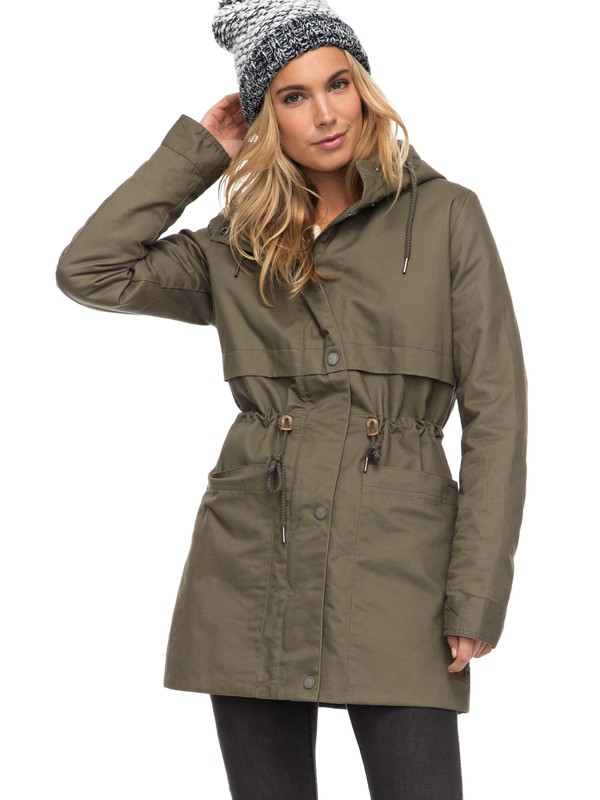 0 Sea Dance - Water Repellent Parka Green ERJJK03199 Roxy
