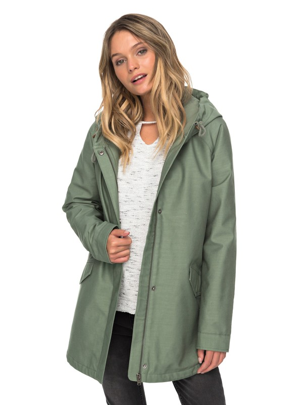 0 Sunny Fly Away - Hooded Jacket Green ERJJK03221 Roxy