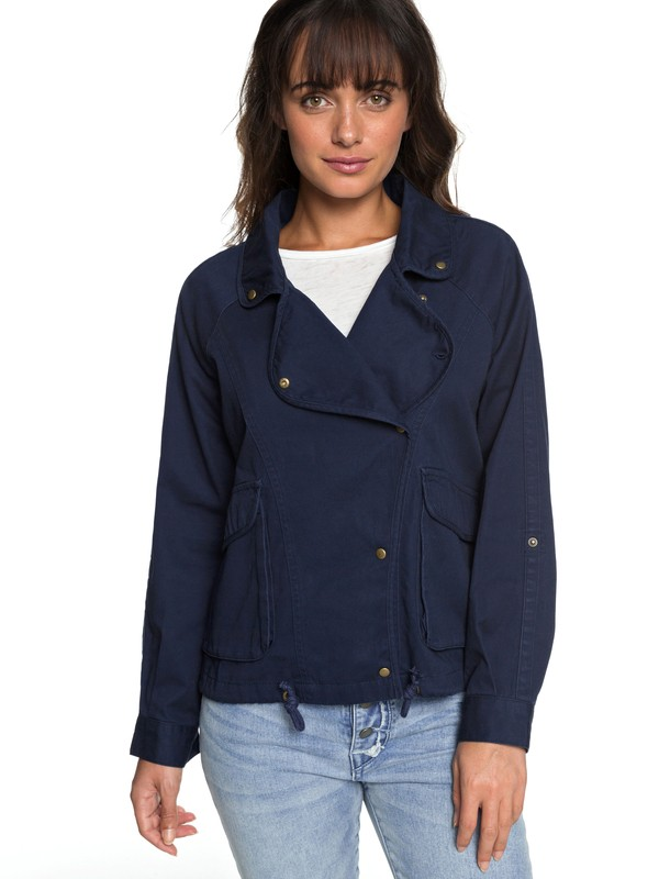 0 Perfect Spot - Military Jacket Blue ERJJK03225 Roxy