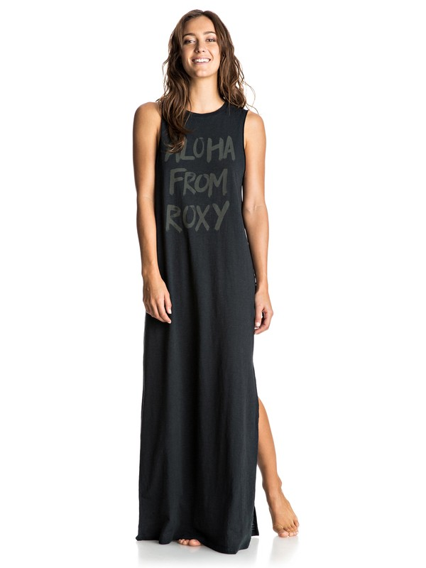 0 Earlybird C - Maxi Tank Dress Black ERJKD03107 Roxy