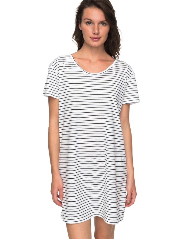0 Just Simple Stripe - T-Shirt Dress Blue ERJKD03172 Roxy