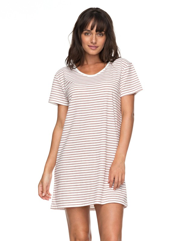 0 Just Simple Stripe - T-Shirt Dress Orange ERJKD03172 Roxy