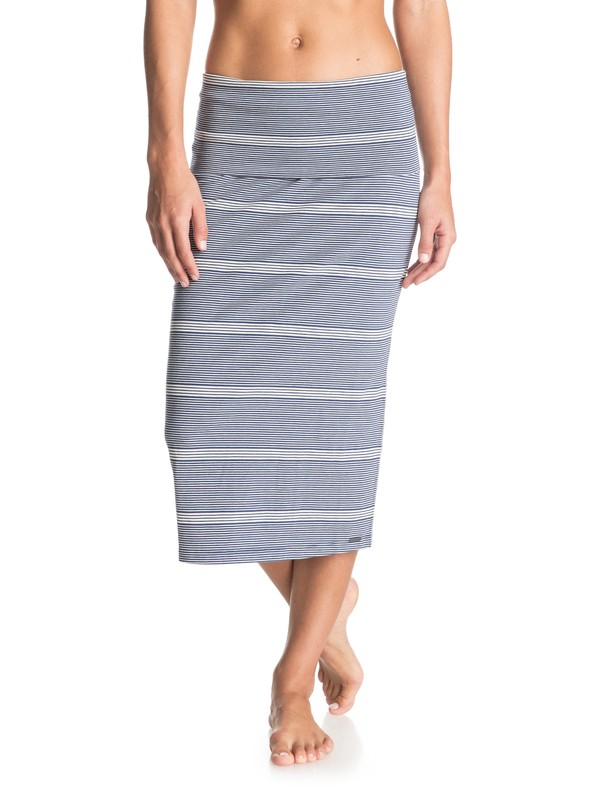 0 Wind Chimes Bodycon Midi Skirt Blue ERJKK03006 Roxy
