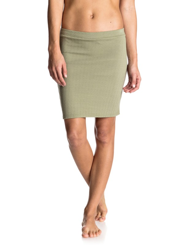 0 Thinkin Out Loud Body Con Skirt Green ERJKK03013 Roxy