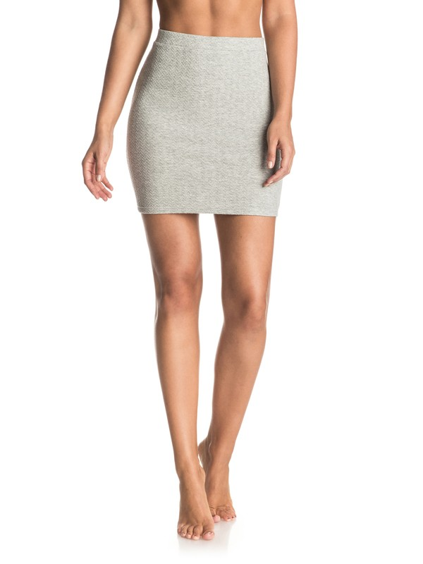 0 Thinkin Out Loud Body Con Skirt Grey ERJKK03013 Roxy