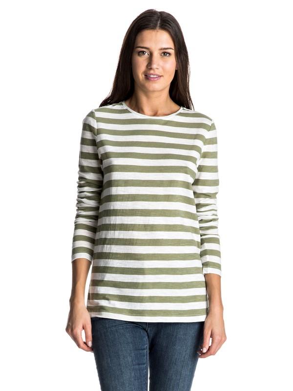 0 Zarauz Beat Stripes - Tee-Shirt à manches longues Vert ERJKT03195 Roxy