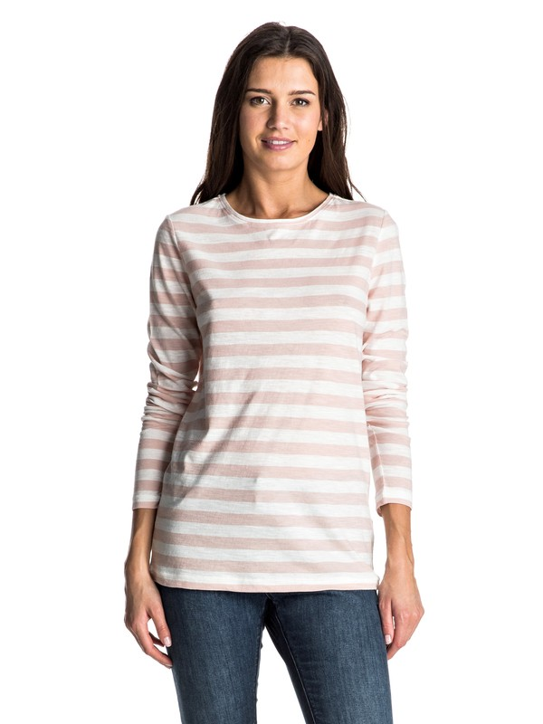 0 Zarauz Beat Stripes - Tee-Shirt à manches longues Blanc ERJKT03195 Roxy