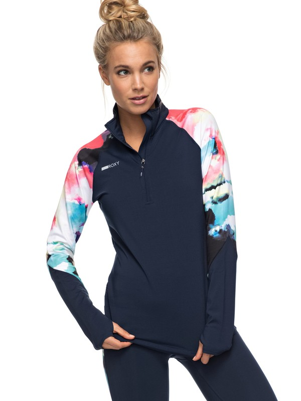 0 Keep It Warm - Funktionelles Langarmshirt Blau ERJKT03272 Roxy