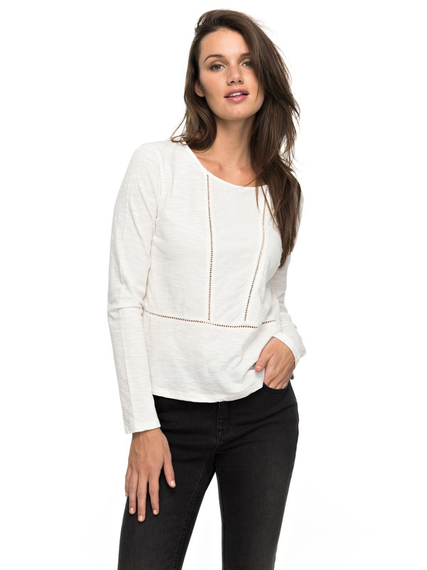0 We Make Together - Long Sleeve Top White ERJKT03283 Roxy