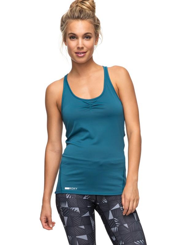 0 Wild Soul - T shirt de sport Bleu ERJKT03292 Roxy