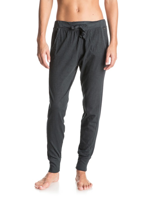 0 California Saga Jogger Pants Black ERJNP03058 Roxy