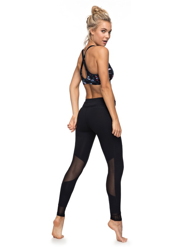 0 Hanakka - High Waist Leggings Black ERJNP03130 Roxy