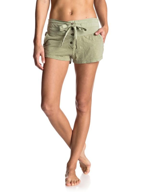 0 Livin In A Dream Jersey Shorts Green ERJNS03062 Roxy