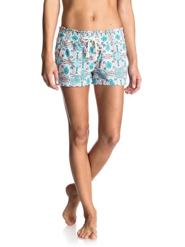 0 Oceanside Printed - Shorts aus Leinen-Mischung Weiss ERJNS03073 Roxy