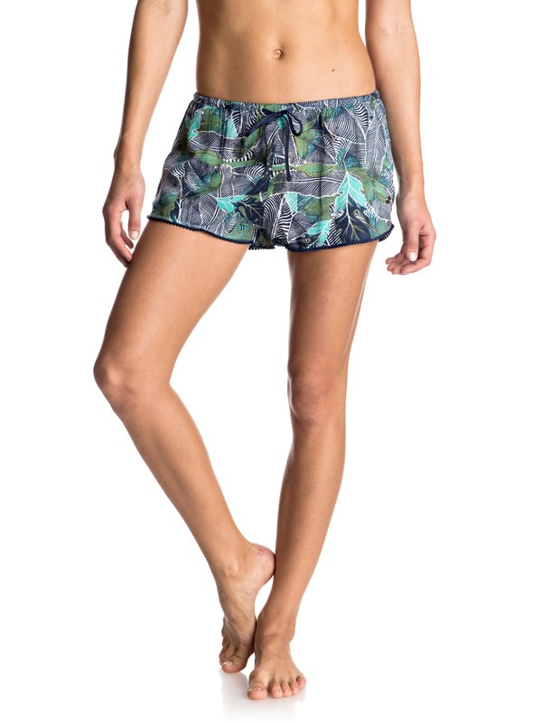 0 Mystic Az Printed - Viskose-Shorts Blau ERJNS03078 Roxy