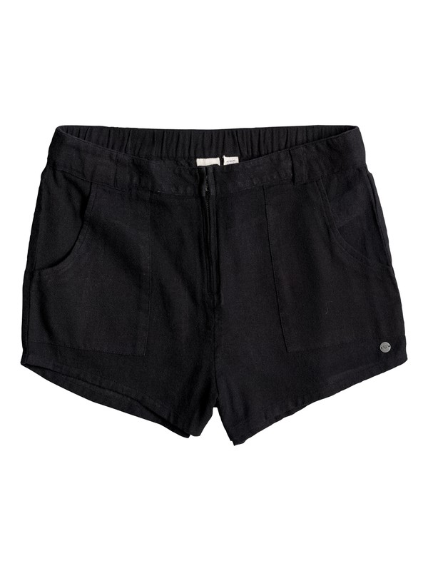 0 Slow Point - Baumwoll-Shorts Schwarz ERJNS03080 Roxy