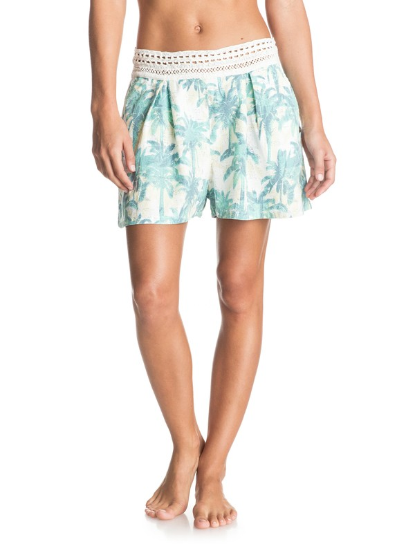 0 Surf Queens - Viskose-Shorts Weiss ERJNS03081 Roxy