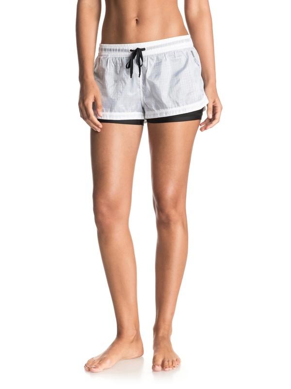 "0 Weellow Layered 3"" Shorts White ERJNS03085 Roxy"