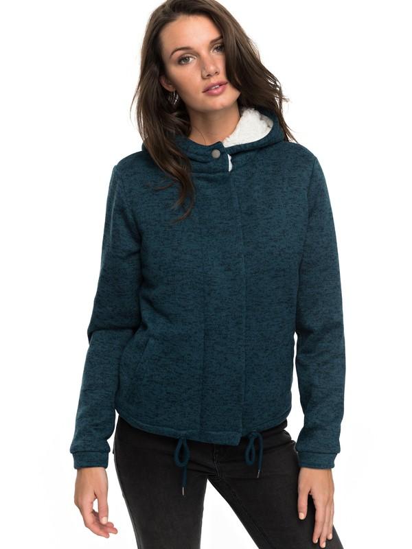 0 Salty Seas - Sweatshirt à capuche zippé Bleu ERJPF03027 Roxy