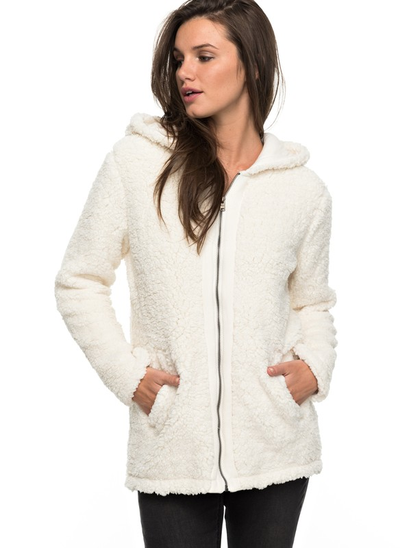 0 Curl Out - Zip-Up Hoodie White ERJPF03029 Roxy
