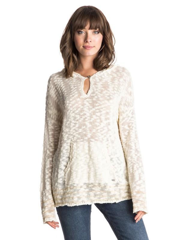 0 Border Field  Hooded Sweater White ERJSW03111 Roxy