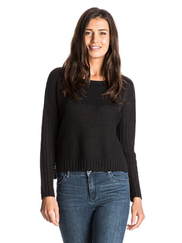 0 True To Your School Cropped Sweater  ERJSW03125 Roxy