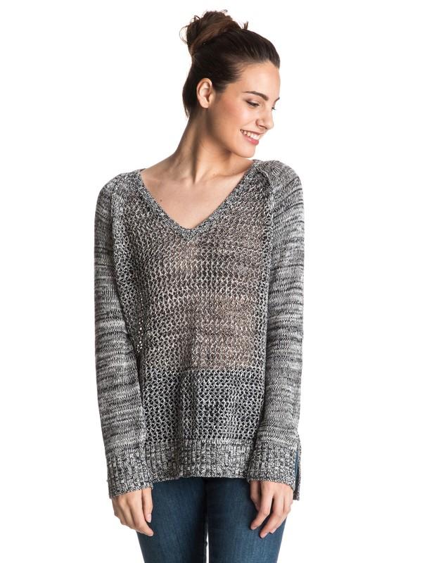 0 A Three Hour Tour - Sweater met V-hals Black ERJSW03129 Roxy