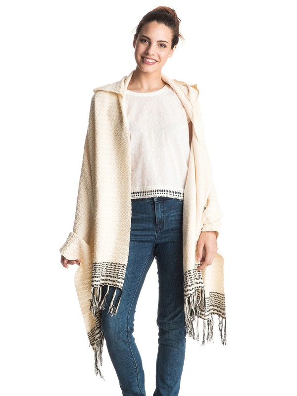 0 Soul Searchin - Open Poncho White ERJSW03136 Roxy