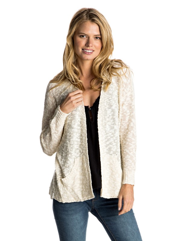 0 Move On Up - Open-Front Cardigan White ERJSW03164 Roxy
