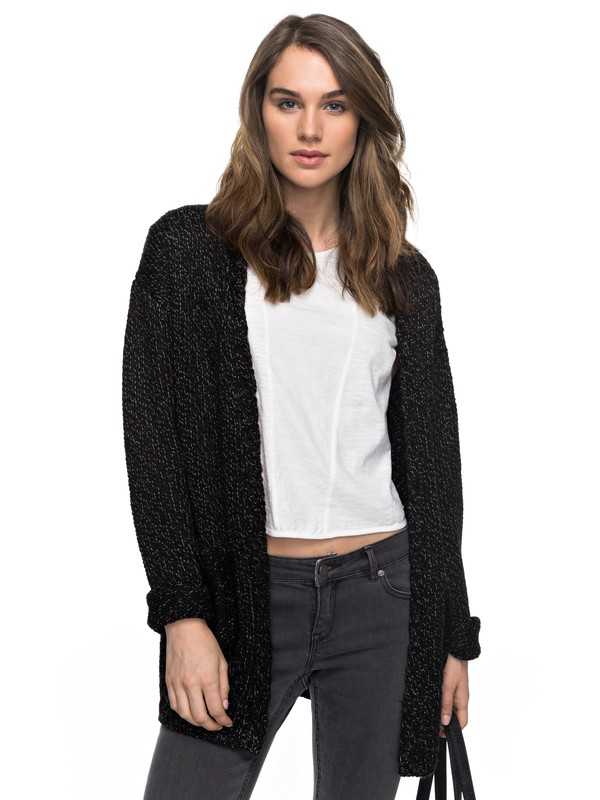 0 Time Break - Cardigan Black ERJSW03189 Roxy