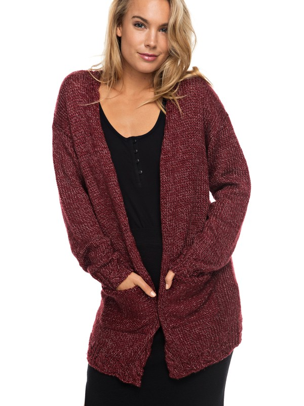 0 Time Break - Cardigan Rot ERJSW03189 Roxy