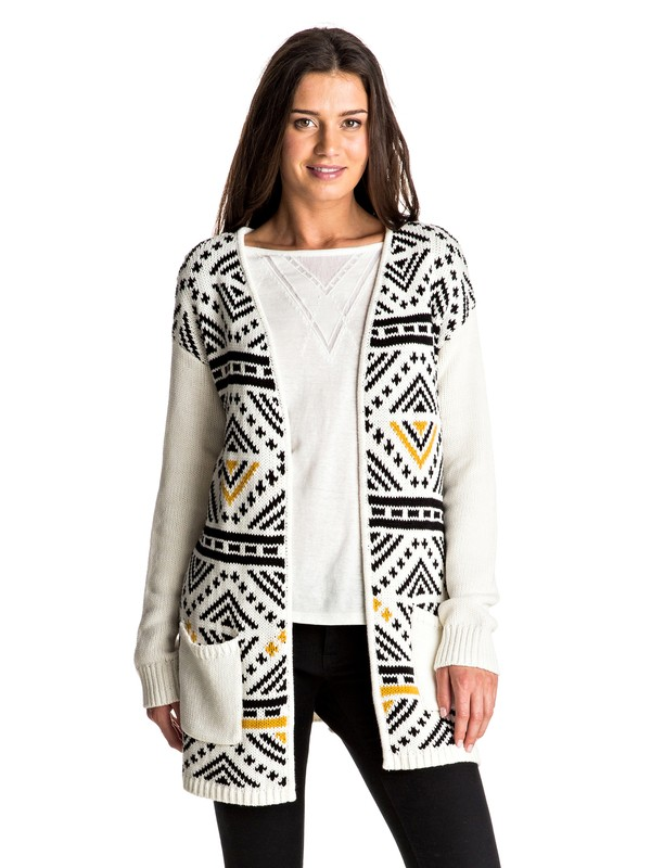 0 Feel The Dream - Long Cardigan White ERJSW03202 Roxy