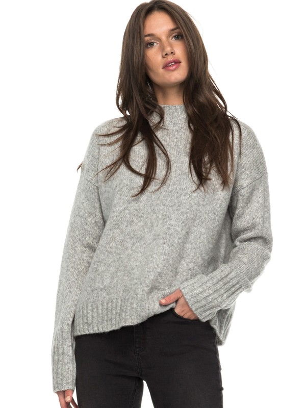 0 Be Wild And Wonder - Jersey de cuello alto Gris ERJSW03221 Roxy