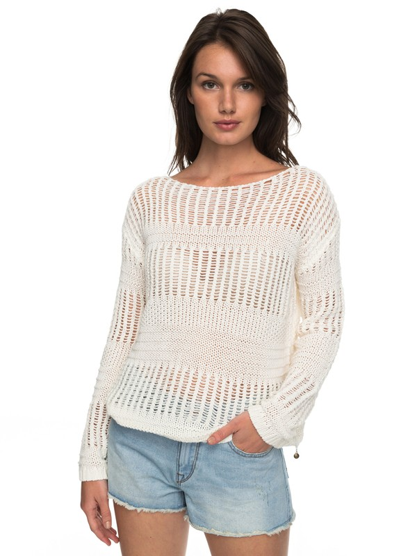 0 Blush Seaview - Jumper White ERJSW03241 Roxy