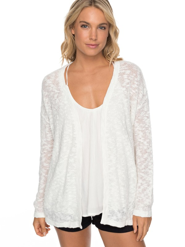 0 Livin Sunday - Cardigan White ERJSW03246 Roxy