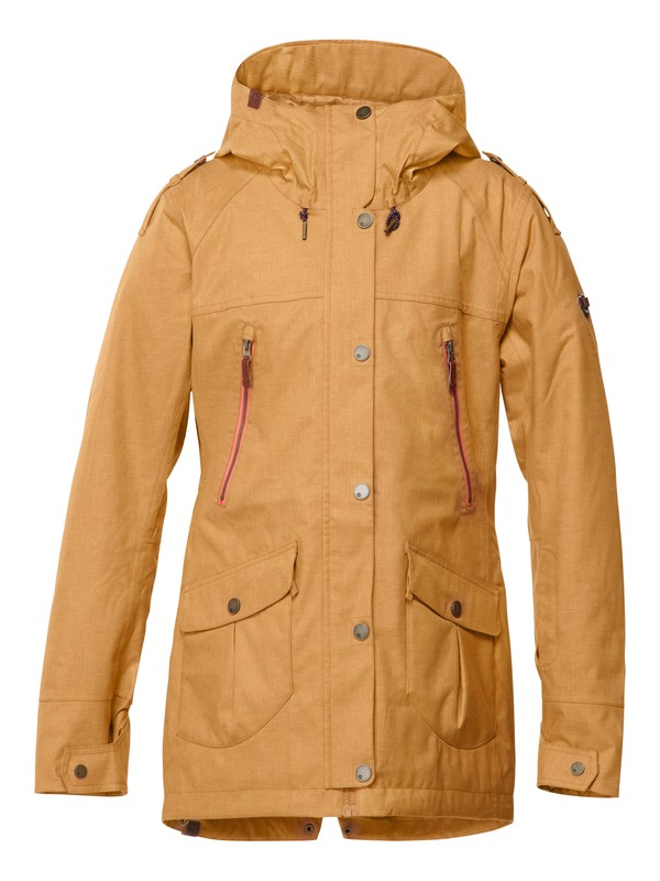 0 KJ Tribe Jacket Brown ERJTJ00017 Roxy